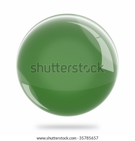 Blank Deep Green Sphere Float - stock photo