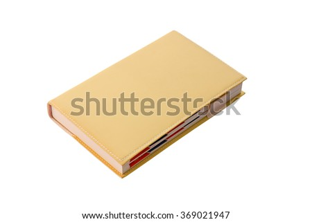 Blank Diary isolated with clipping path. - stock photo