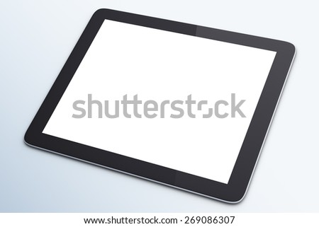 blank digital tablet on a white background - stock photo