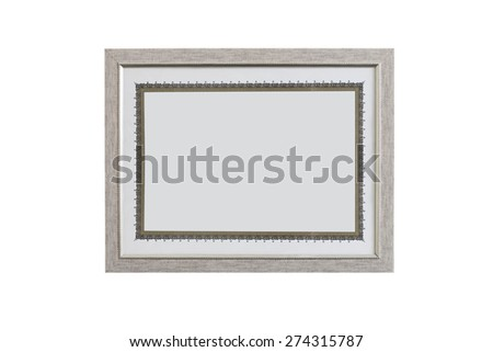 Blank diploma / license template in a frame (file includes clipping path) - stock photo