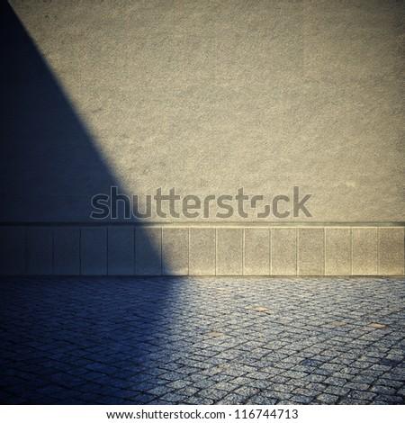 Blank dirty grunge wall - stock photo