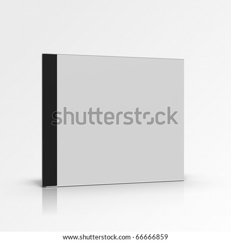 Blank disc box on gradient background - stock photo