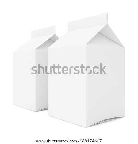 blank drink packs collection. 3d render on white background - stock photo