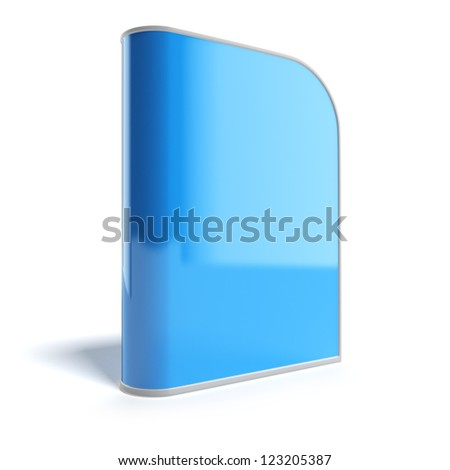 Blank Dvd Box isolated on a white background - stock photo