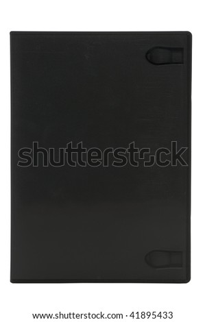 Blank DVD case isolated on white with clipping path - stock photo