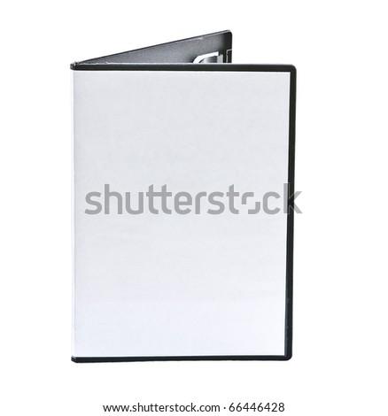 Blank DVD case on white - stock photo