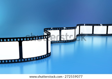 Blank film background - stock photo