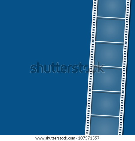 blank film strip on background - stock photo
