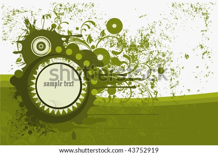 Blank floral backgrounds on abstract and grunge elements with ornament shapes. - stock photo