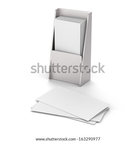 blank folded and unfolded leaflet composition or flier mock up in DL size on white - stock photo