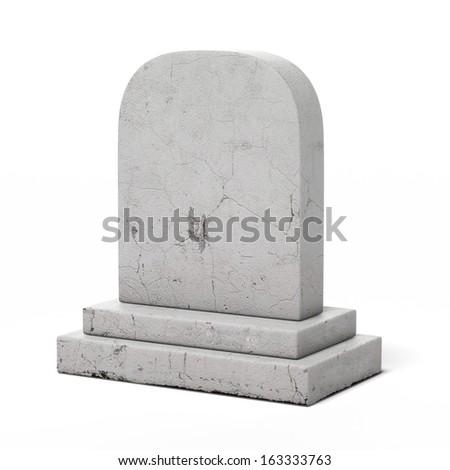 Blank gravestone - stock photo