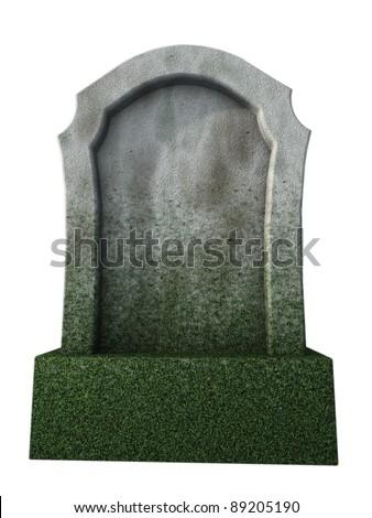 blank gravestone  - 3d illustration - stock photo