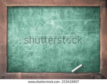 Blank green board. - stock photo
