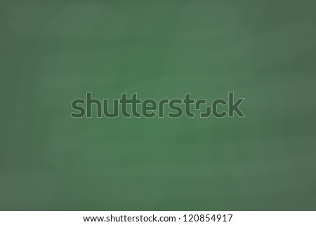 Blank green chalkboard - stock photo