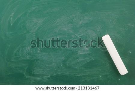 Blank green chalkboard, blackboard texture - stock photo
