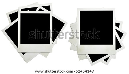 blank grunge photo frame ready to be populated with any image - stock photo