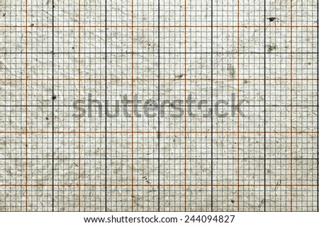 Blank, grungy graph paper - stock photo