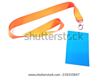 Blank ID card tag isolated on white - stock photo