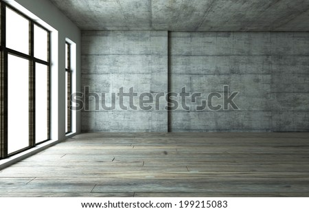 blank interior - stock photo