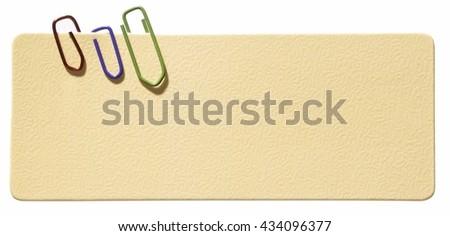 Blank label - stock photo