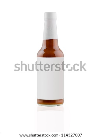 Blank Label bottom of BBQ Meat Sauce - stock photo