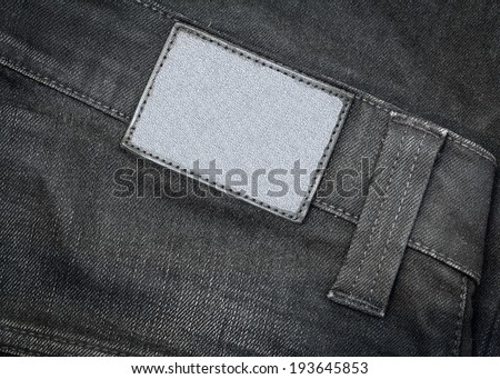 Blank leather jeans labels - stock photo