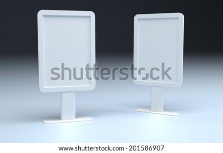 Blank lightbox template - stock photo