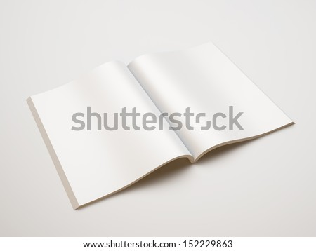 blank magazine - stock photo