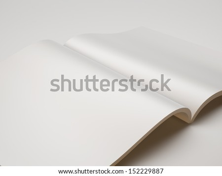blank magazine closeup - stock photo