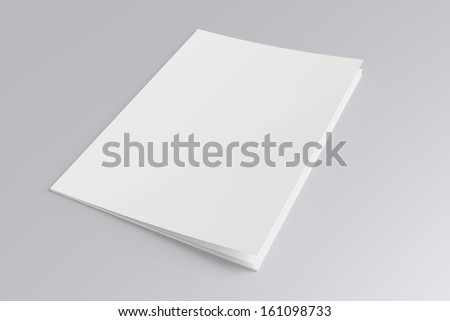 Blank Magazine isolated on grey - stock photo