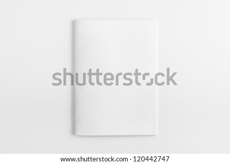 Blank Magazine isolated on White Background - stock photo