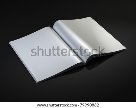 Blank Magazine template - stock photo