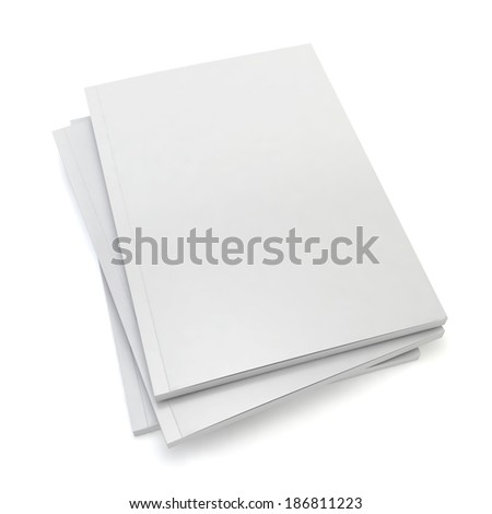 Blank magazines. 3d image isolated on white background  - stock photo