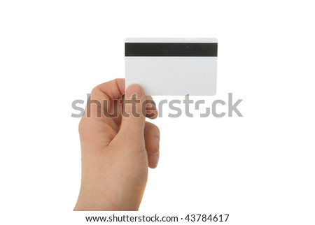 blank magnetic card - stock photo