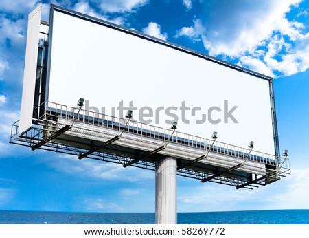 Blank Mega Billboard in the Skies - stock photo