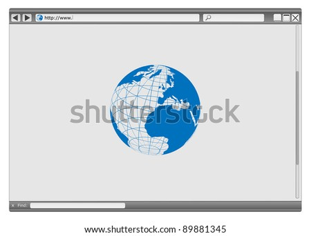 Blank Modern Internet Web Browser With Copyspace - stock photo
