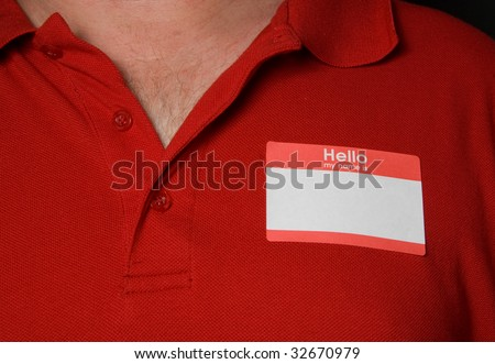 Blank Name Tag - stock photo