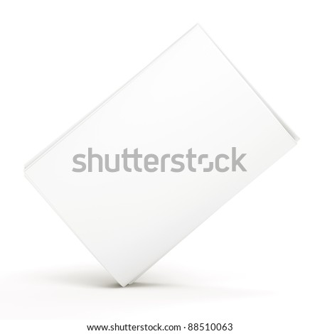 Blank newspaper on white background - stock photo