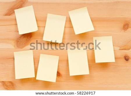 Blank Note pads on Wood Back - stock photo