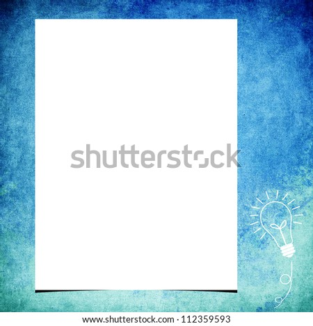 Blank note paper on grunge background - stock photo
