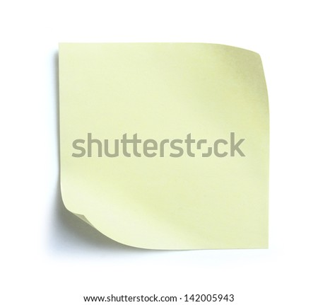 blank note paper on white background. ready for your design - stock photo