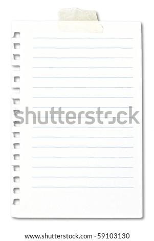 blank note sheet - stock photo