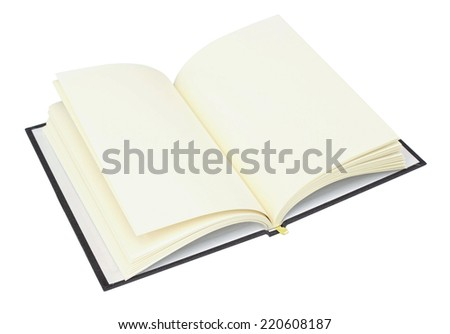 Blank Notebook isolated on a White Background  - stock photo