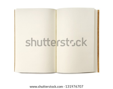 Blank Notebook isolated on white background. Copy Space. - stock photo