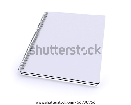 Blank notepad / notebook with spiral - stock photo