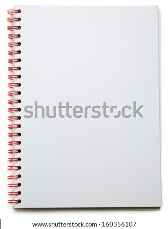 Blank notepad on the white background - stock photo