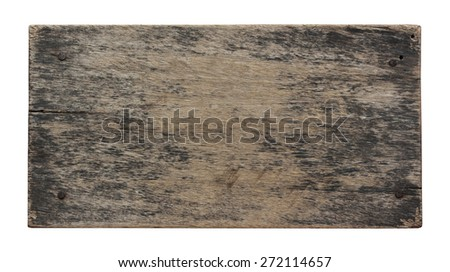 Blank of old wood isolated on white background with Clipping Path. - stock photo