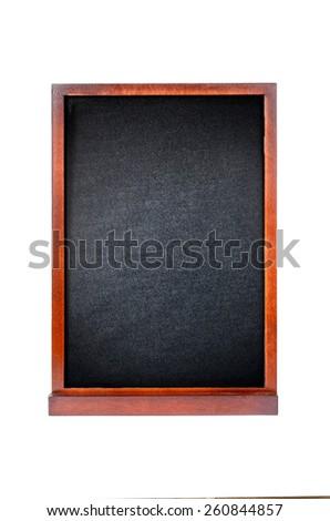 Blank old blackboard - stock photo