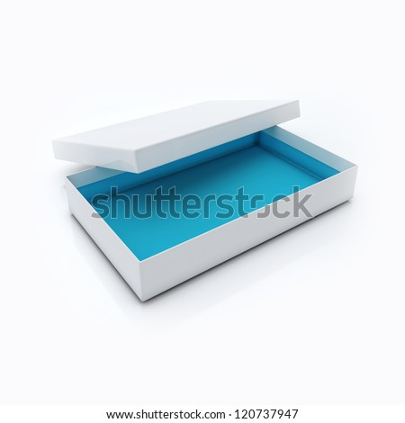 Blank Open Box Isolated Over White Background - stock photo