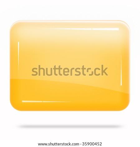 Blank Orange Board Float - stock photo